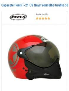 [Kabum] Capacete Peels F-21 US Navy Vermelho/Grafite 58 por R$ 87