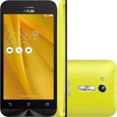 """[Ponto Frio] ASUS Zenfone Go Dual Chip Android LCD TFT 4.5"""" 8GB Wi-Fi/3G Câmera 5MP - Amarelo por R$500"""