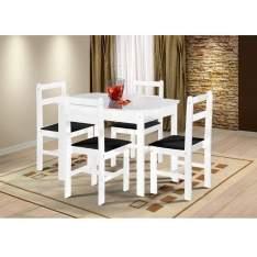 [Casas Bahia ]Mesa Fritz Mille 115cm com 4 Cadeiras Fritz Mille R$ 234