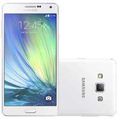 "[efacil]Smartphone Galaxy A7 Dual Chip Branco Tela 5.5"", 4G+WiFi, Android 4.4, 13MP, 16GB - Samsung | Uberlandia"