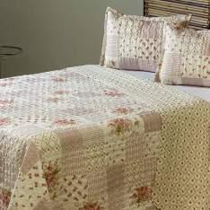 [Shoptime] Colcha Queen Boutis Brigitte com 2 Porta-Travesseiros - Casa & Conforto por R$ 90