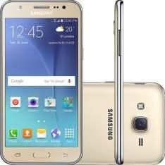 """[Americanas] Smartphone Samsung Galaxy J5 Duos Dual Chip Android 5.1 Tela 5"""" 16GB 4G Wi-Fi Câmera 13MP - Dourado por R$900"""