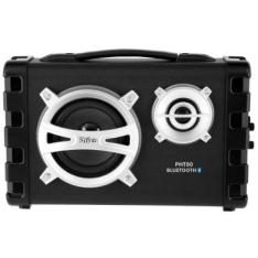 [ClubedoRicardo] Caixa Acústica Philco PHT80 - 80W Bluetooth V2.1 + EDR, Entrada para Guitarra e USB, Rádio FM + Bateria Recarregável Interna