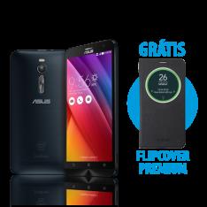 [ASUS] Zenfone 2 4GB/32GB Preto+ Flip Cover Premium Preto - R$1349