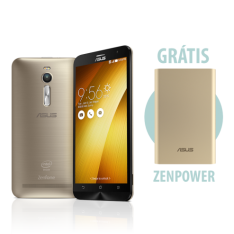 [ASUS] Zenfone 2 4GB/32GB Dourado+ ZenPower Dourado por R$ 1399