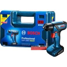[WalMart] Furadeira e Parafusadeira à Bateria Bosch GSR1000 Smart 12V com Maleta por R$ 179