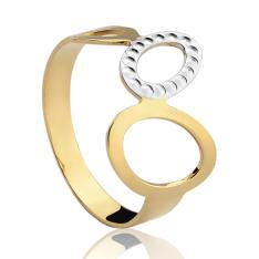 [Vivara] Anel Ouro Amarelo e Ouro Branco Gold Buenos Aires - AN00047203 por R$ 295