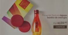 [Natura] Presente Natura Águas Banho de Energia - Desodorante Colônia + Sabonete em Barra + Embalagem Desmontada R$ 60