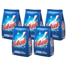 [Ponto Frio] 5 Unidades / Detergente em Pó Brilhante Multi-Tecidos 2 Kg 39,90