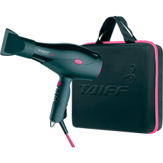 [AMERICANAS] Kit Secador de Cabelos Taiff Saffira Ion 2100W com Maleta Preto/Pink - R$158