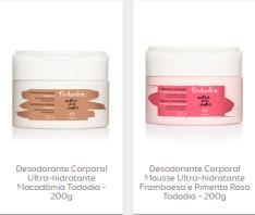 [Natura] Lançamentos Desodorante e Mousse Corporal Ultra-Hidratante Tododia - R$ 29