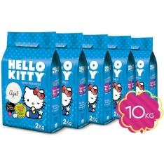 [Areia de Gato] Kit de Areia Higiênica Hello Kitty Azul c/ 5 unidades - 10kg - por R$25 + frete grátis (sudeste)