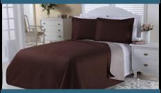 [AMERICANA]  Cobre-leito Dual Color Solteiro com Porta-travesseiro Marrom e Bege Orb -R$ 50