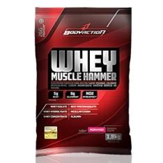 [BOA SAÚDE SUPLEMENTOS] Whey Muscle Hammer - Body Action - 1800g-Morango