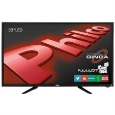 "[EFACIL] Smart TV 32"" LED HD PH32B51DSGW WiFi - R$ 1077,02"