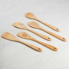 [Shoptime] Conjunto de 5 Peças Utensílios de Bambu La Cuisine