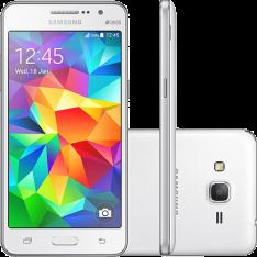 """[Americanas] Smartphone Samsung Galaxy Gran Prime Duos Dual Chip Android Tela 5"""" Memória Interna 8GB 3G Câmera 8MP - Branco por R$630"""