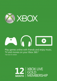 [CDKeys] 12 Meses Xbox Live Gold (Xbox One/360)