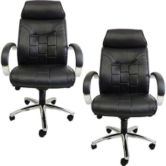 [SUBMARINO]Kit 2 Cadeiras Presidente UT-C957H Preto Pelegrin-R$1.099,56
