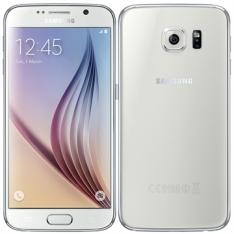 "[EFACIL] Smartphone Galaxy S6 Branco Tela 5.1"" 4G+WiFi, Android 5.0, Câmera 16MP, Memória 32GB - Samsung  POR R$ 1581"