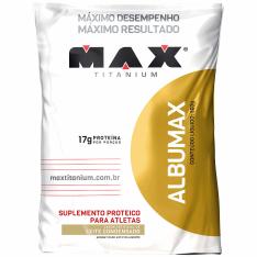 [CENTAURO] Albumina Max Titanium Albumax - 500 g - Sabor Leite Condensado 18% DESCONTO