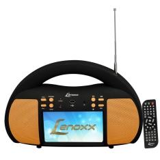 """[Casas Bahia/Retirar na Loja Fisica] DVD Player Portátil Lenoxx DT-525 com Tela de 7"""", TV Digital, Rádio FM e Entrada USB com Função Ripping – 5,5 W por R$ 70"""