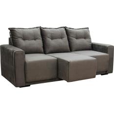 [Americanas] Sofá 3 Lugares Com Assento Retrátil-R$527