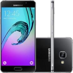 """[Submarino] Smartphone Samsung Galaxy A5 2016 Dual Chip Android 5.1 Tela 5.2"""" 16GB 4G Câmera 13MP - Preto por R$ 1377"""
