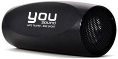 [Sarava] MP3 Player You Sound Bike Preto, Entrada Cartão Micro SD, Função Pen Drive, Alto-Falante Externo por R$ 19