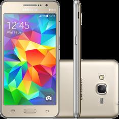 """[Americanas] Samsung Galaxy Gran Prime Duos Dual Chip Android Tela 5"""" Memória Interna 8GB 3G Câmera 8MP - Dourado"""