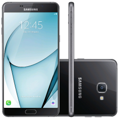 """[Super Muffato] Smartphone Samsung Galaxy A9 SM-A910F, 4G Android 6.0 Octa Core 1.8GHz 32GB Câmera 16.0MP Tela 6"""", Preto - R$2399"""