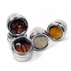 [Big Vitrine] Conjunto Porta Condimentos e Temperos Magnético Imã em Aço Inox - R$36