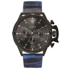[Ricardo Eletro] Relógio Masculino Cronógrafo Guess, Pulseira de Tecido e Couro Camuflado, Caixa de 5,4 cm, Resistente à Água 10 ATM - 92541GPGSSC2 por R$ 360