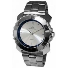 [Clube do Ricardo] Relógio Masculino Analógico Philipe Brissot, Pulseira de Metal Prateado, Resistente à Água - PB-1035 por R$ 60
