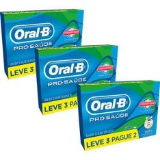 [Sou Barato] Kit com 9 Cremes Dentais Oral-B Pro-Saúde - R$14,97