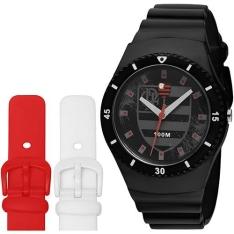 [Okulos] Relógio Masculino Analógico Technos Clubes Flamengo Troca Pulseira FLA502A/8P por R$ 129