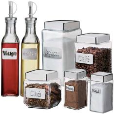[Americanas] Conjunto de potes de vidros 7 peças - R$ 49