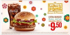 [Mc Donalds] Extra Burger Salada + Refrigerante ou Del Valle Médio por R$ 10