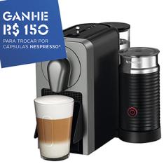 [EFACIL] Cafeteira Expresso Prodígio Milk Titânio - Nespresso POR R$ 706