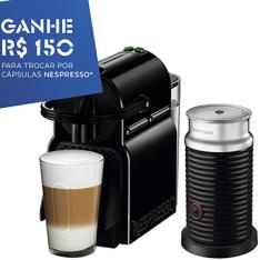 [EFACIL] Cafeteira Expresso Inissia com Aeroccino Preta - Nespresso POR R$418