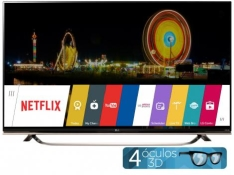 """[Clube da Lu] Smart TV LED 4k Ultra HD 3D 65"""" LG 65UF8500"""