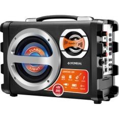 [Walmart] Caixa Amplificada Mondial Thunder 2 MCO-02 com Entrada USB Entrada para Guitarra Rádio FM Bateria Recarregável 40 W com Microfone por R$ 170