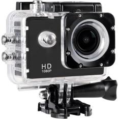 """[Walmart] Câmera Filmadora de Ação ONN 12MP Full HD Tela 1.5"""" Preta por R$ 134"""