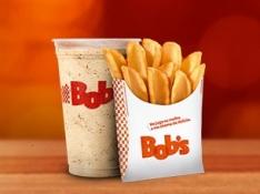 [Bob's] Batata Canoa M + Milk Shake P - R$8,50
