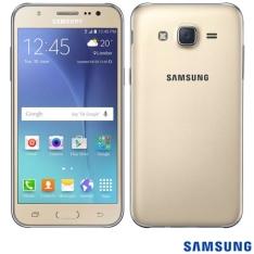 """[FastShop] Samsung Galaxy J5 Duos Dourado, com Tela de 5"""", 4G, 16 GB e Câmera de 13 MP – J500 - R$ 709"""