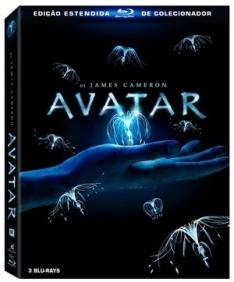 [Saraiva] Bluray Avatar - Edição Estendida de Colecionador - 3 Discos - por R$ 30