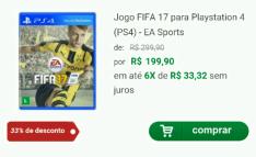 [Clube do Ricardo] Jogo FIFA 17 para 360/One/PS4/PS3 a partir de R$ 160