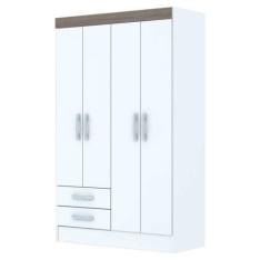 [Mobly] Guarda-Roupa 4 Portas e 2 Gavetas - R$ 170