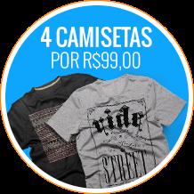 [Kanui] 4 camisetas R$99