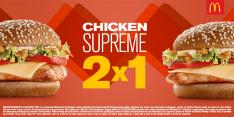 [Mc Donalds] Compre 1 Chicken Supreme e Leve 2 - Pegue o Cupom